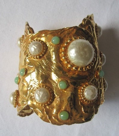 Vintage Dominique Aurentis Cuff Bracelet - TodoVintage