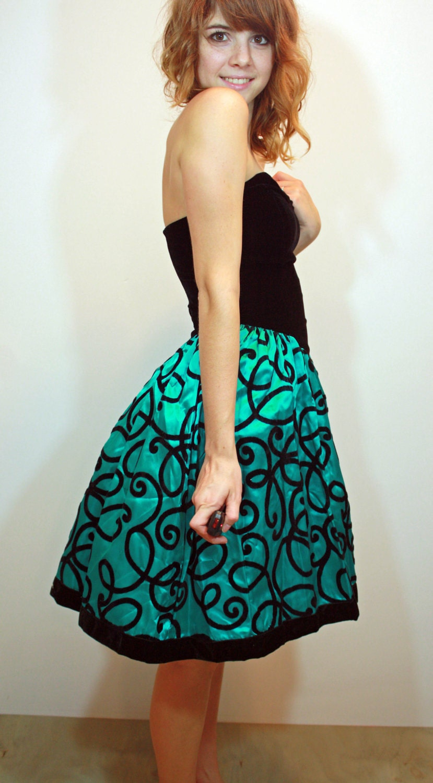 Turquoise Cocktail Dress XS S   Sam Wish