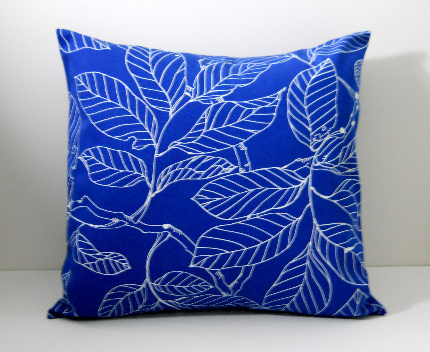 Throw Pillow Cover 18 X 18 : Throw Pillow Cover 18 x 18 Blue IKEA Canvas by JHFabricCreations