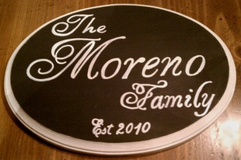 Family Name Sign CUSTOM MADE Personalized Wedding Gift