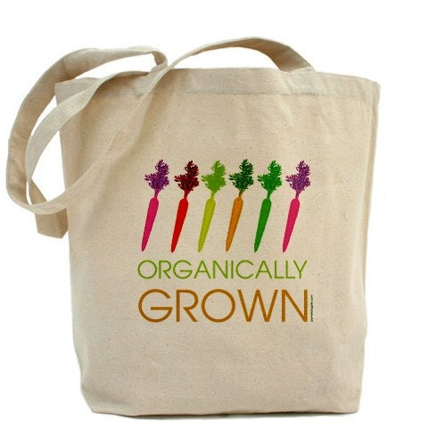 Dancing Carrots - Canvas Tote Bag - Classic Shopper - FREE SHIPPING - PamelaFugateDesigns
