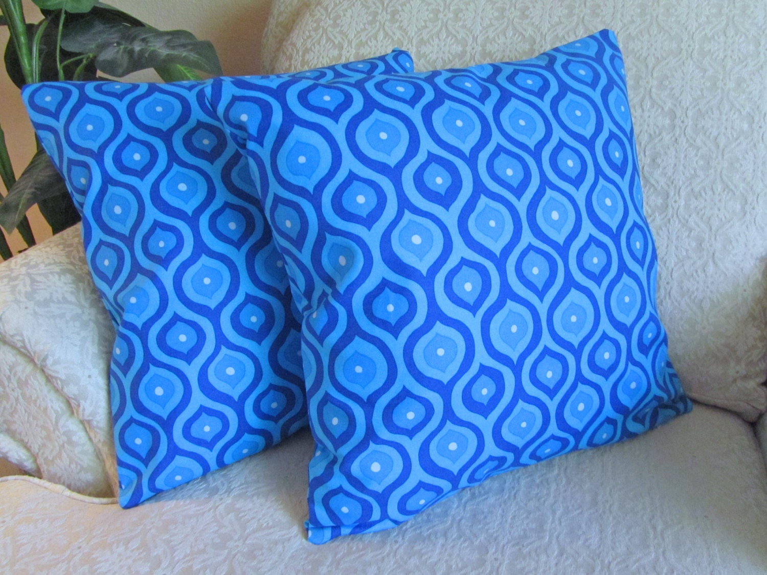 REDUCED Decorative Blue Cushion Covers by asmushomeinteriors