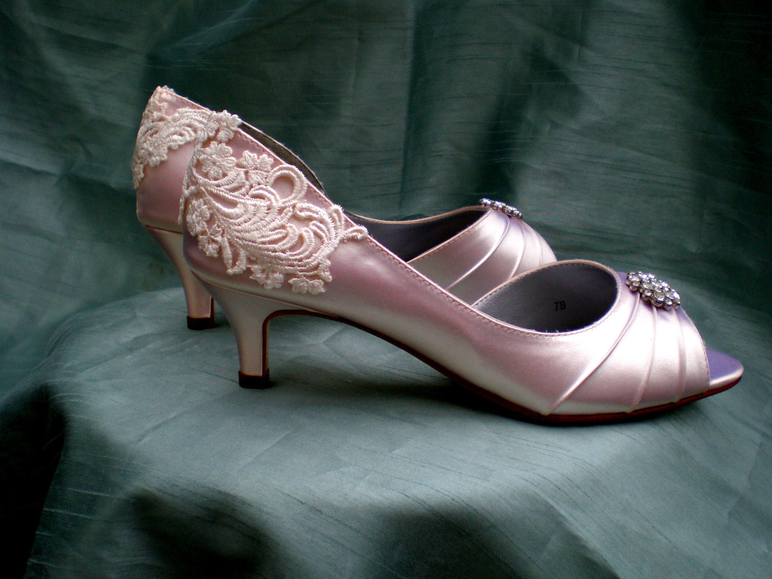 Wedding Shoes Wedding Shoe Low Heel Vintage By TheCrystalSlipper