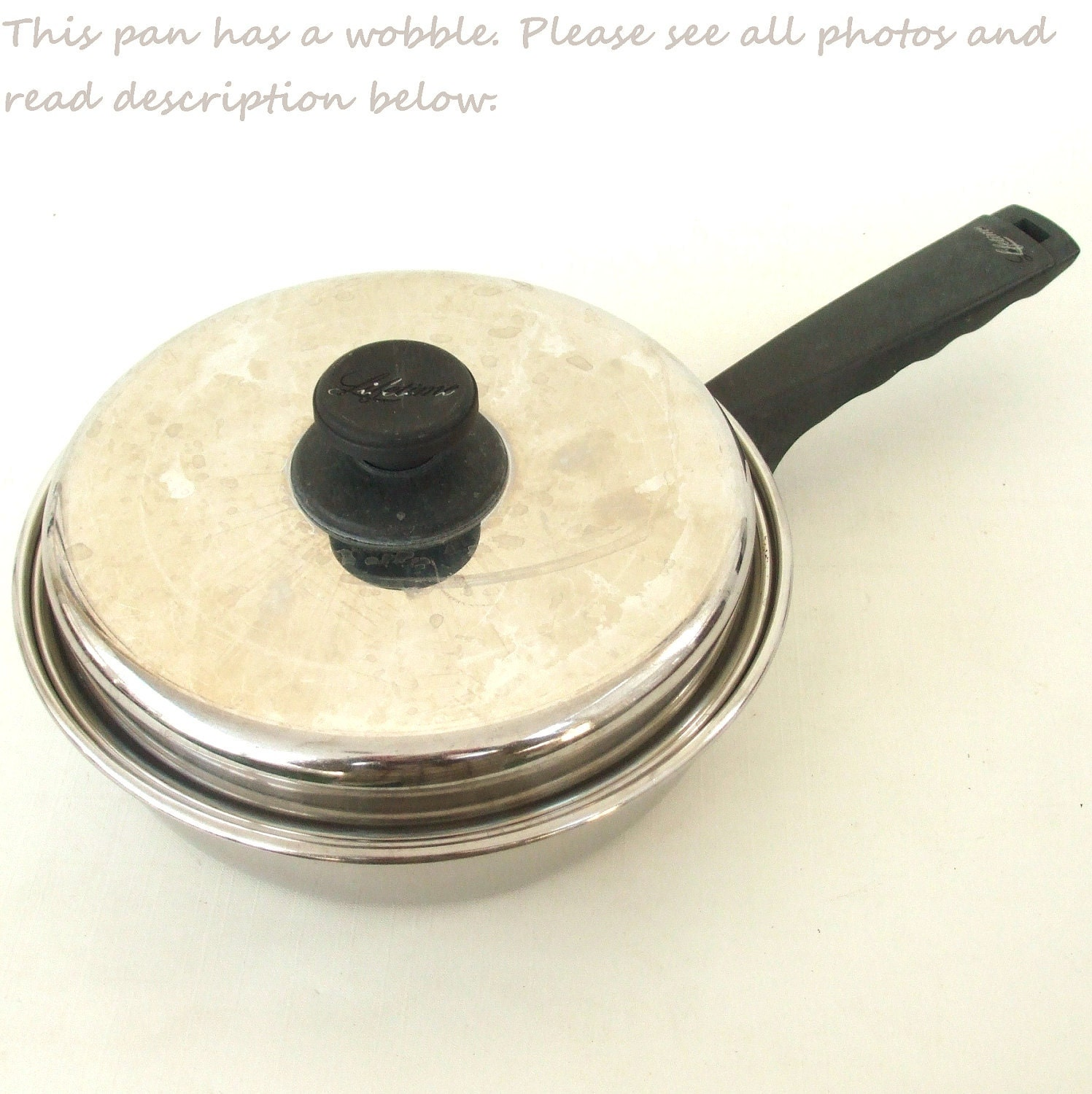 Lifetime Cookware Stainless Frying Pan by LaurasLastDitch on Etsy