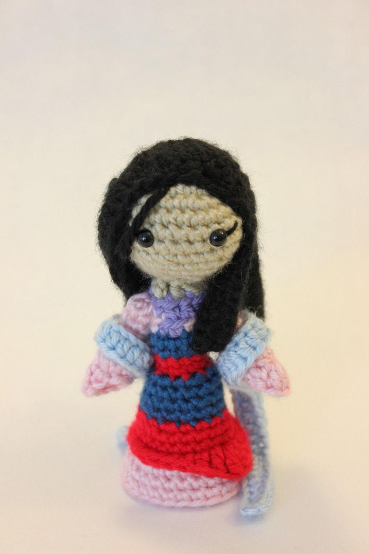 Free Amigurumi Princess Pattern : PATTERN Instant Download Mulan Princess Amigurumi Doll by ...