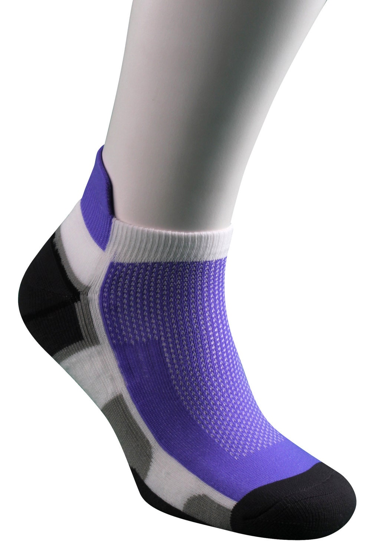 Samson Running Purple Ankle Socks Sport Walking Athletic