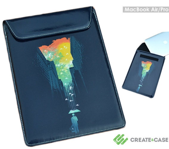 MacBook Pro 13 (Retina Display)  MacBook Air 11inch leather style casesleeve I Want My Blue Sky