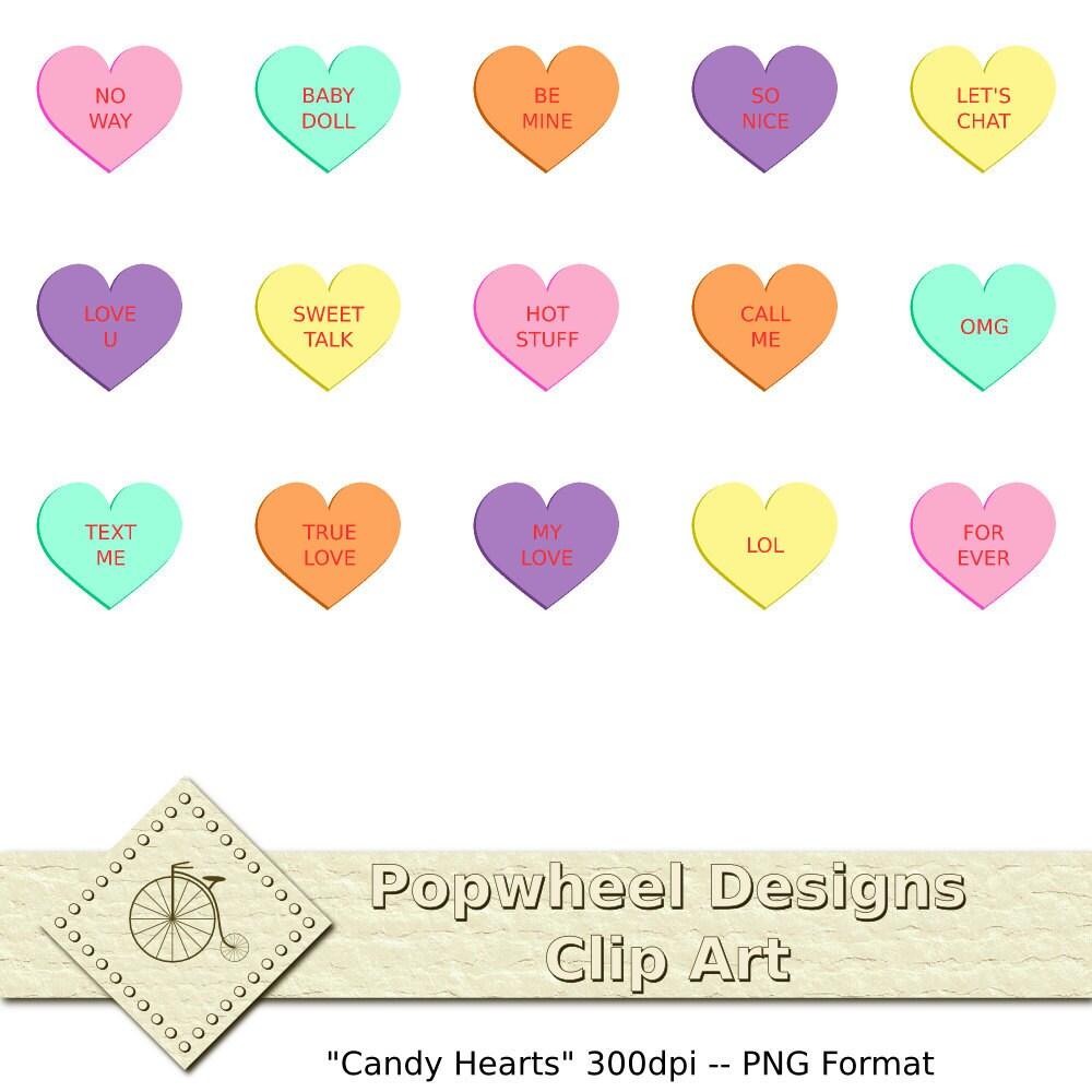 il 570xN 308545332 jpgValentine Candy Hearts Clip Art