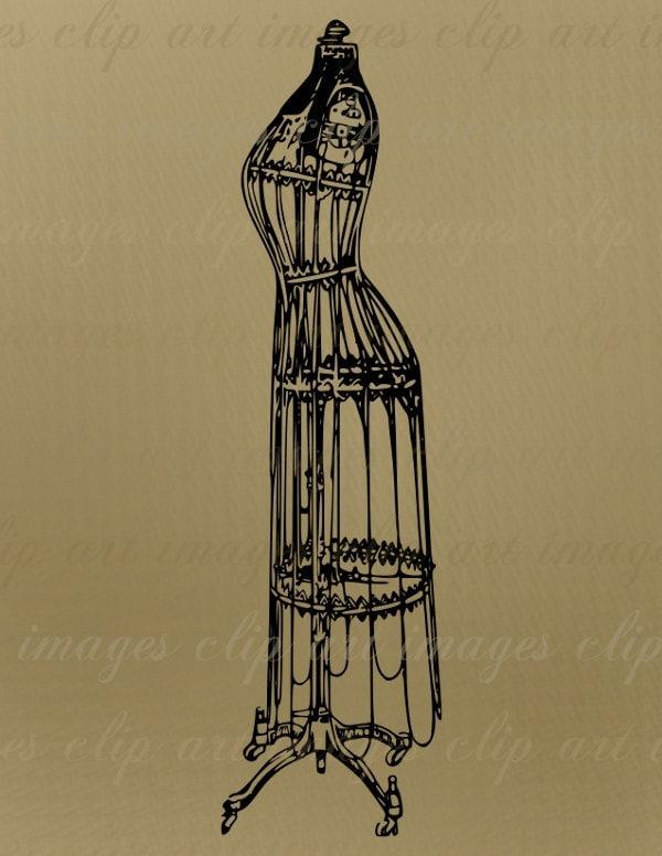 vintage dress clip art - photo #12