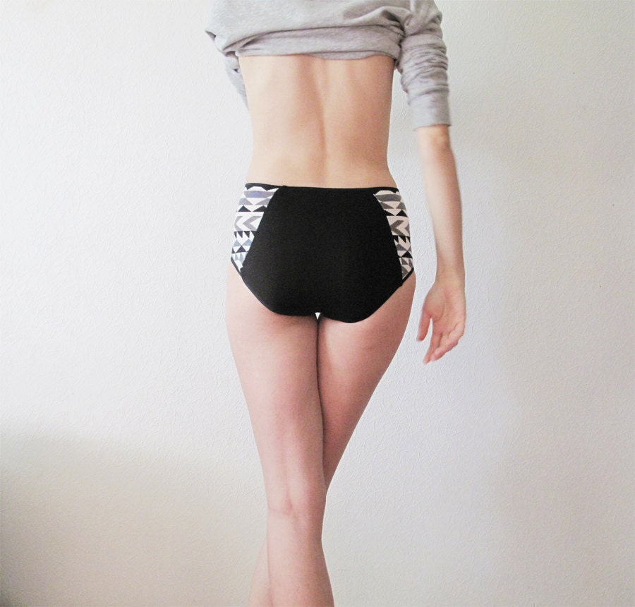 GEOMETRIC pattern High Waisted Panties by Egretta Underwear - EgrettaGarzetta