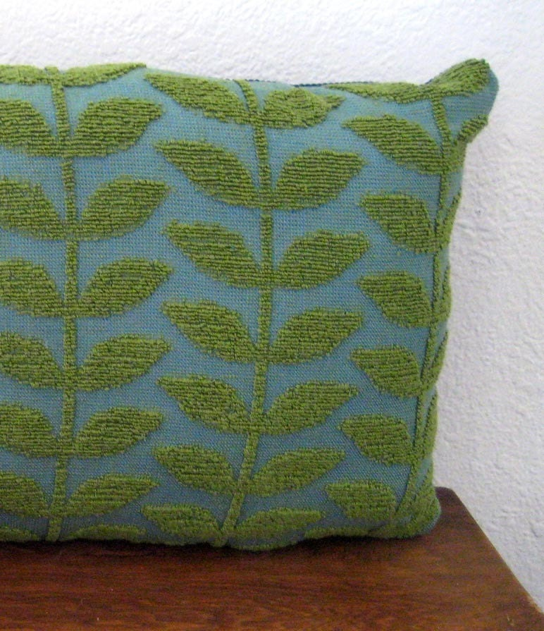 NEW - Green and Blue Throw Pillow - 12 x 10