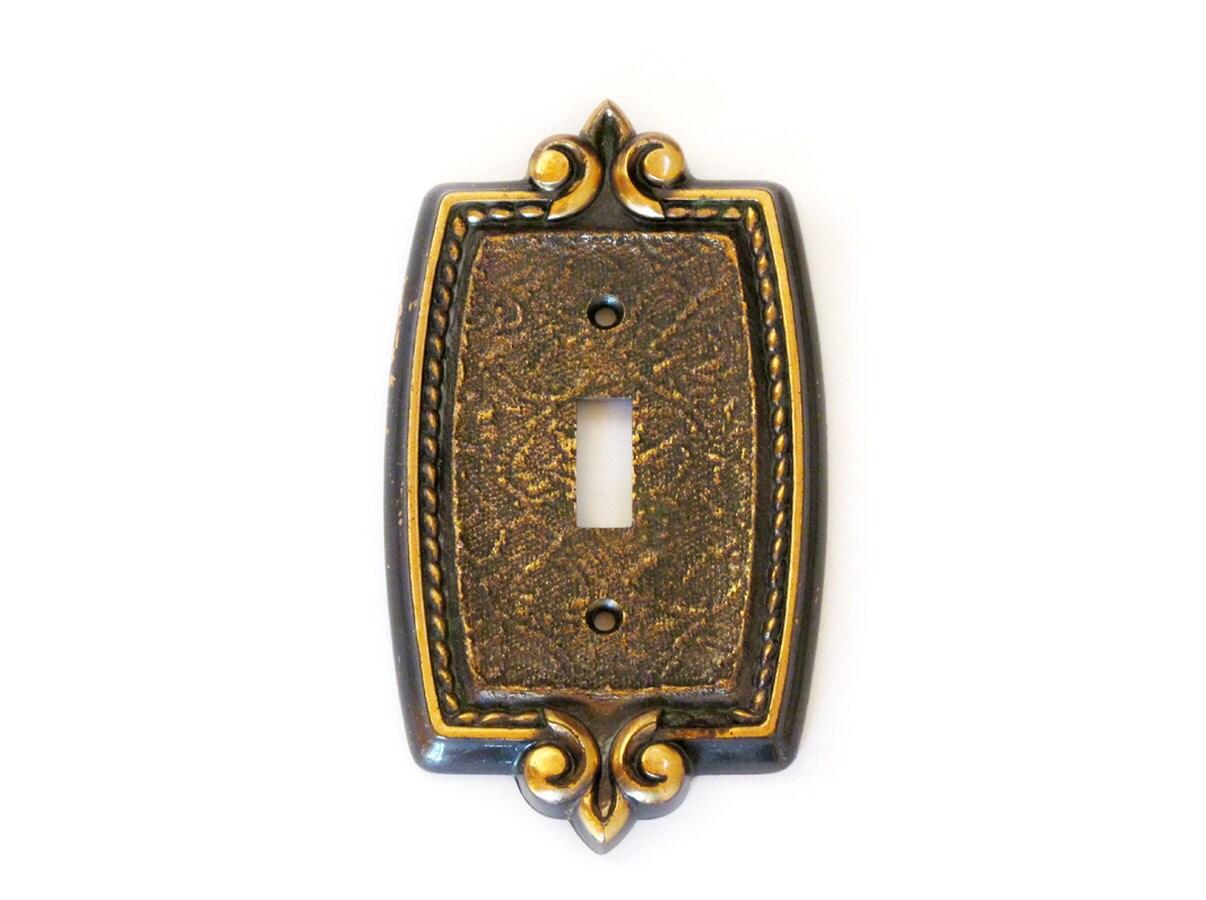 Switch Plate Cover Brass Fleur De Lis Design Light By