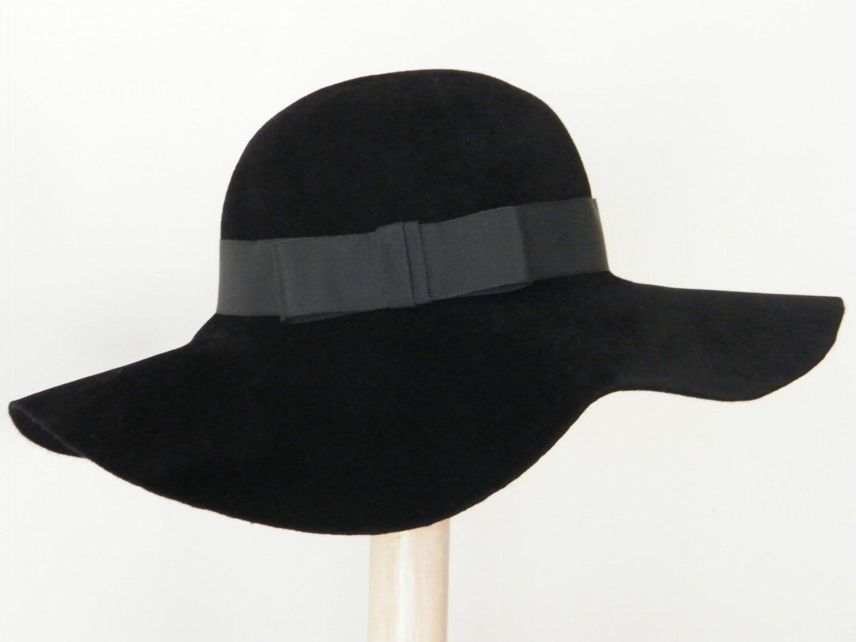 items similar to womens black fur felt hat brim
