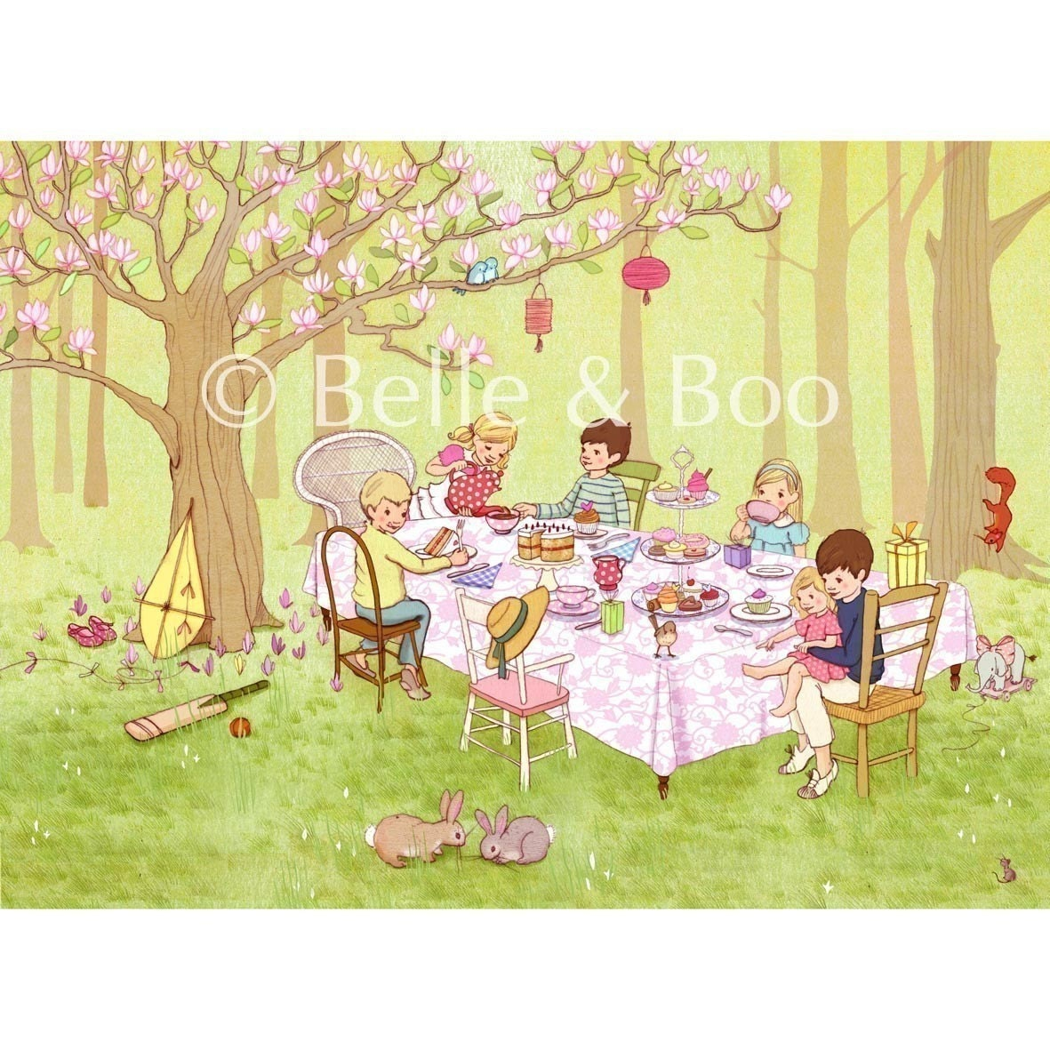 Ava's Tea Party Fine Art Print