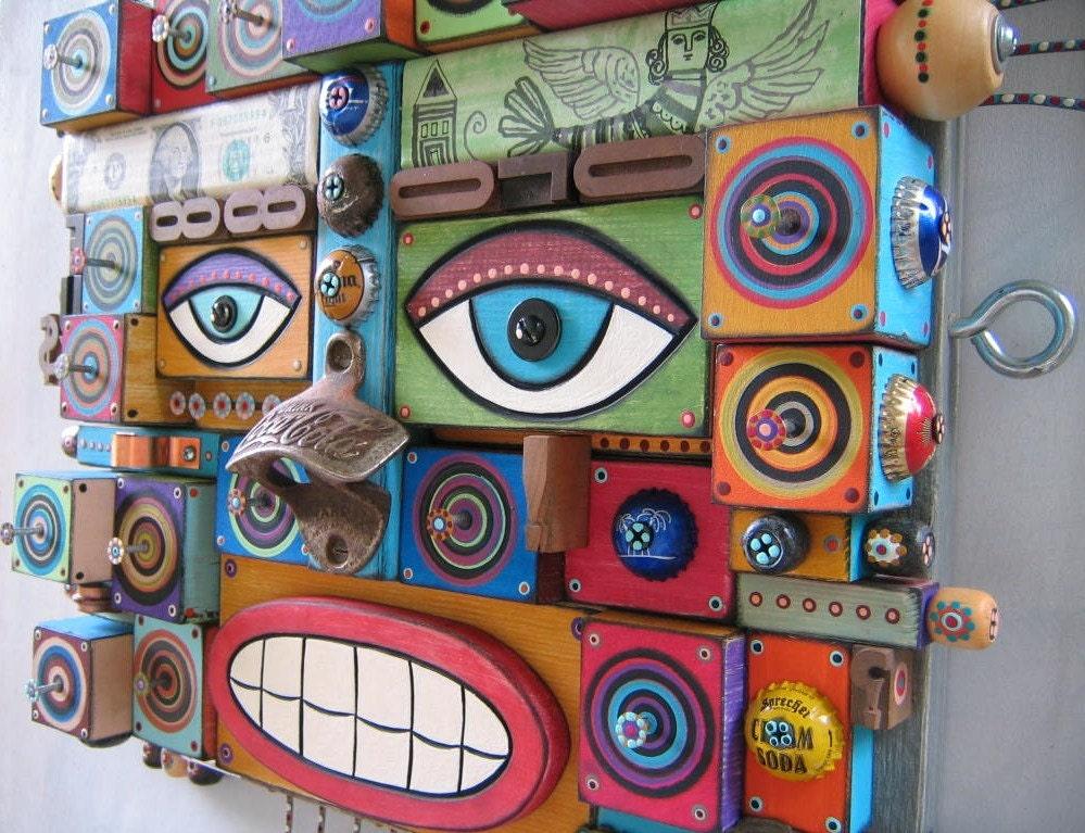 Compagnon, Assemblage d'objet trouvé Original, sticker, par Studio de confiture de figue