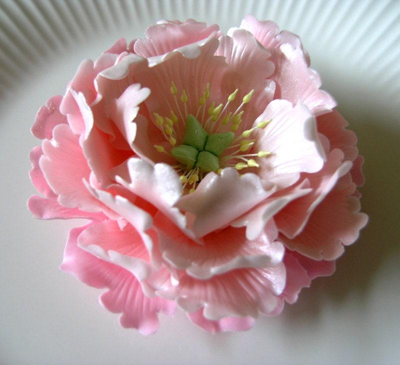 Cake Decorating Gum Paste Nz : Gum Paste PEONY Flowers / Cake Topper Spray / by lenabender48