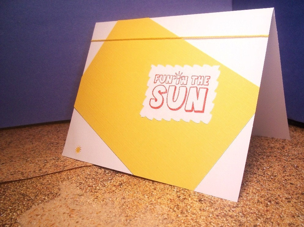 Fun in the sun greeting card from sassy style cards