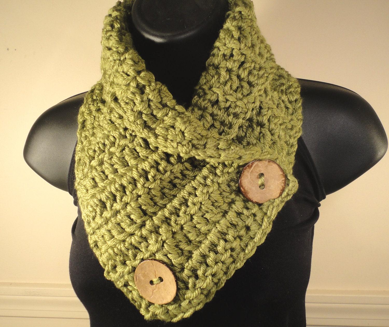Crochet scarf crochet cowl neck warmer button scarf button cowl