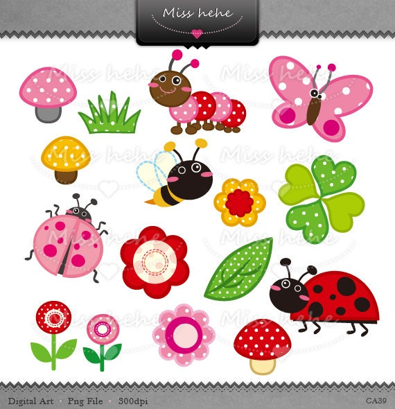 Kids Gardening Clipart Digital clip art - cute garden