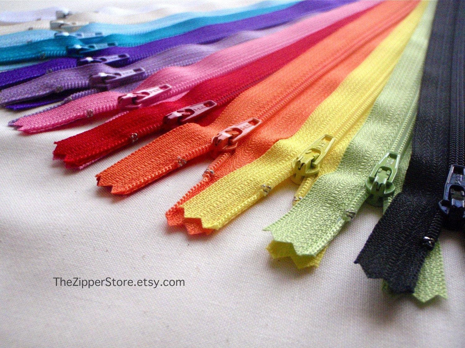 100 Wholesale Bulk Pack of 9 inch YKK Zippers - YOUR CHOICE