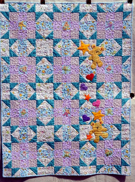 Blue Baby's Choice Crib Quilt