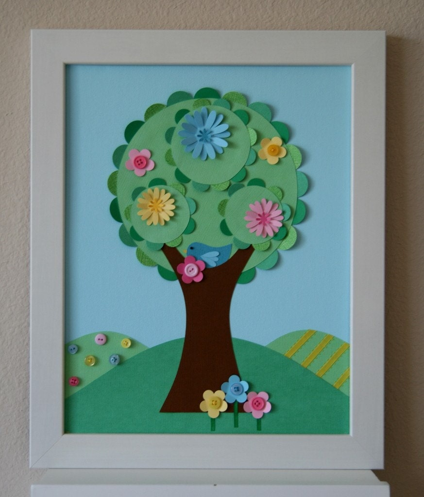 Дерево поделка с детьми