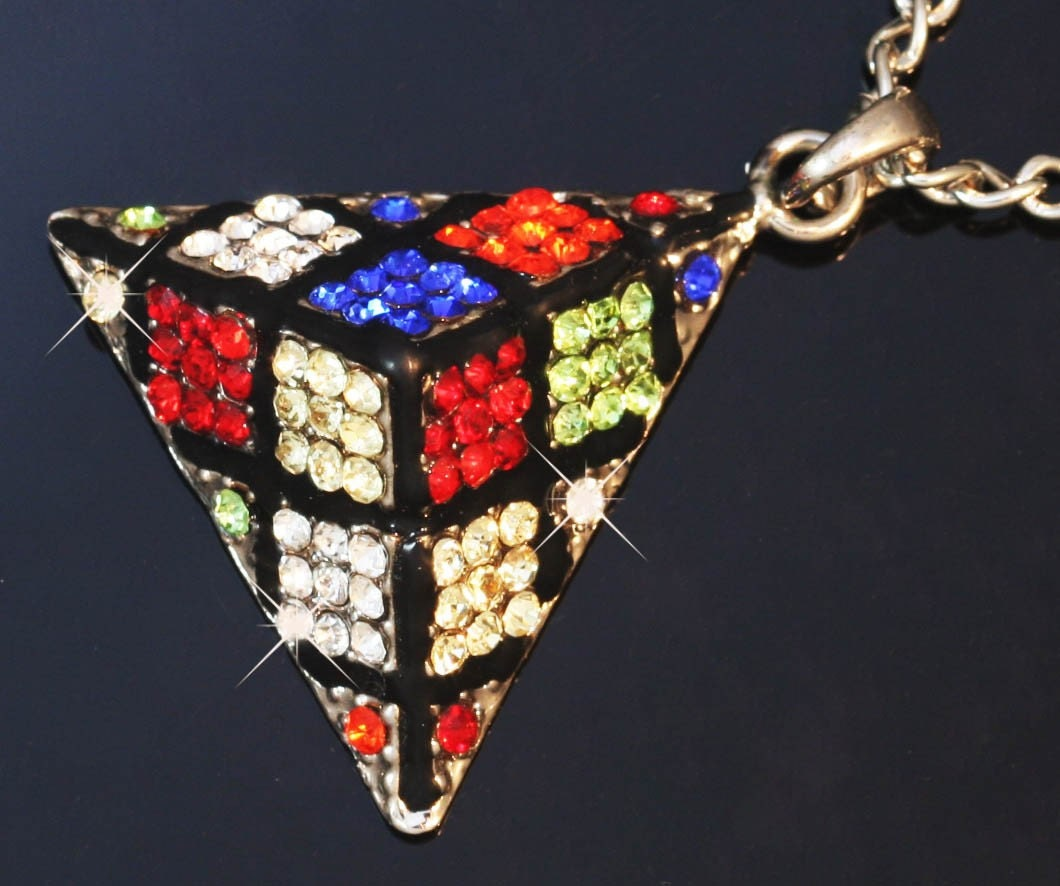 Rubik's Cube Dice Necklace