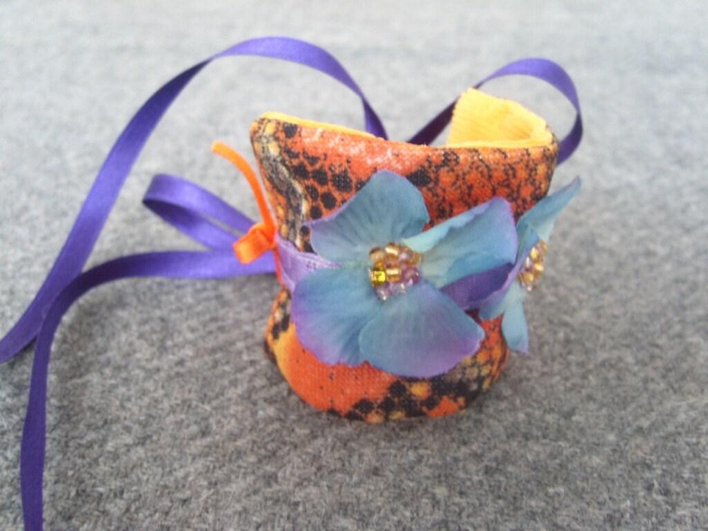 Tangerine Dream-wrist cuff-choker-headband