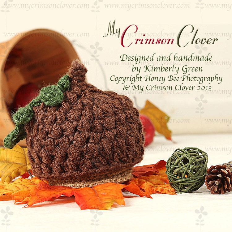 Free Crochet Baby Acorn Hat Pattern : Items similar to Baby Hat Pattern Crochet - Acorn Cap Hat ...