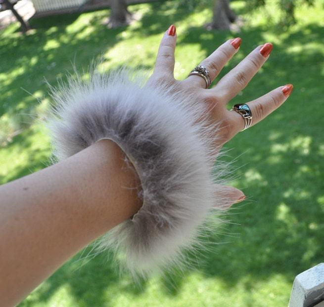 Real Wolf Fur Leather Bracelet By Skyblaze On Etsy