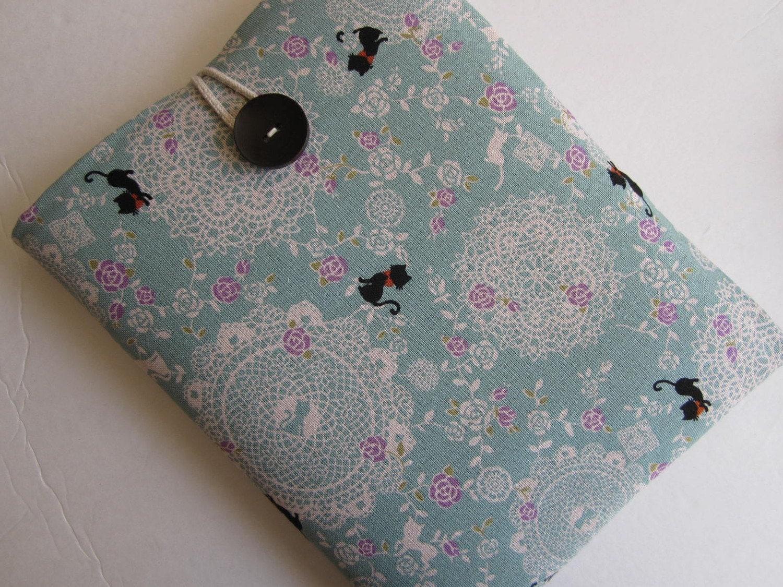 Vintage Lace Cat Patterned iPad case