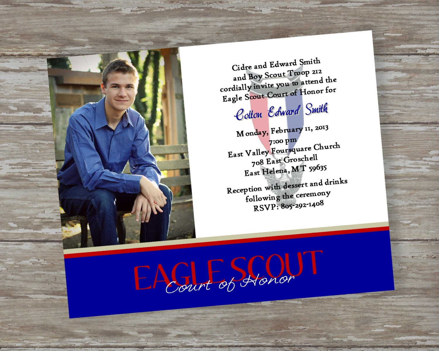 Eagle Scout Invitation-Commitment photo by ItsAllAboutTheCards