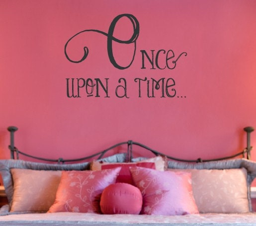 Luxury Once upon a time wall decal