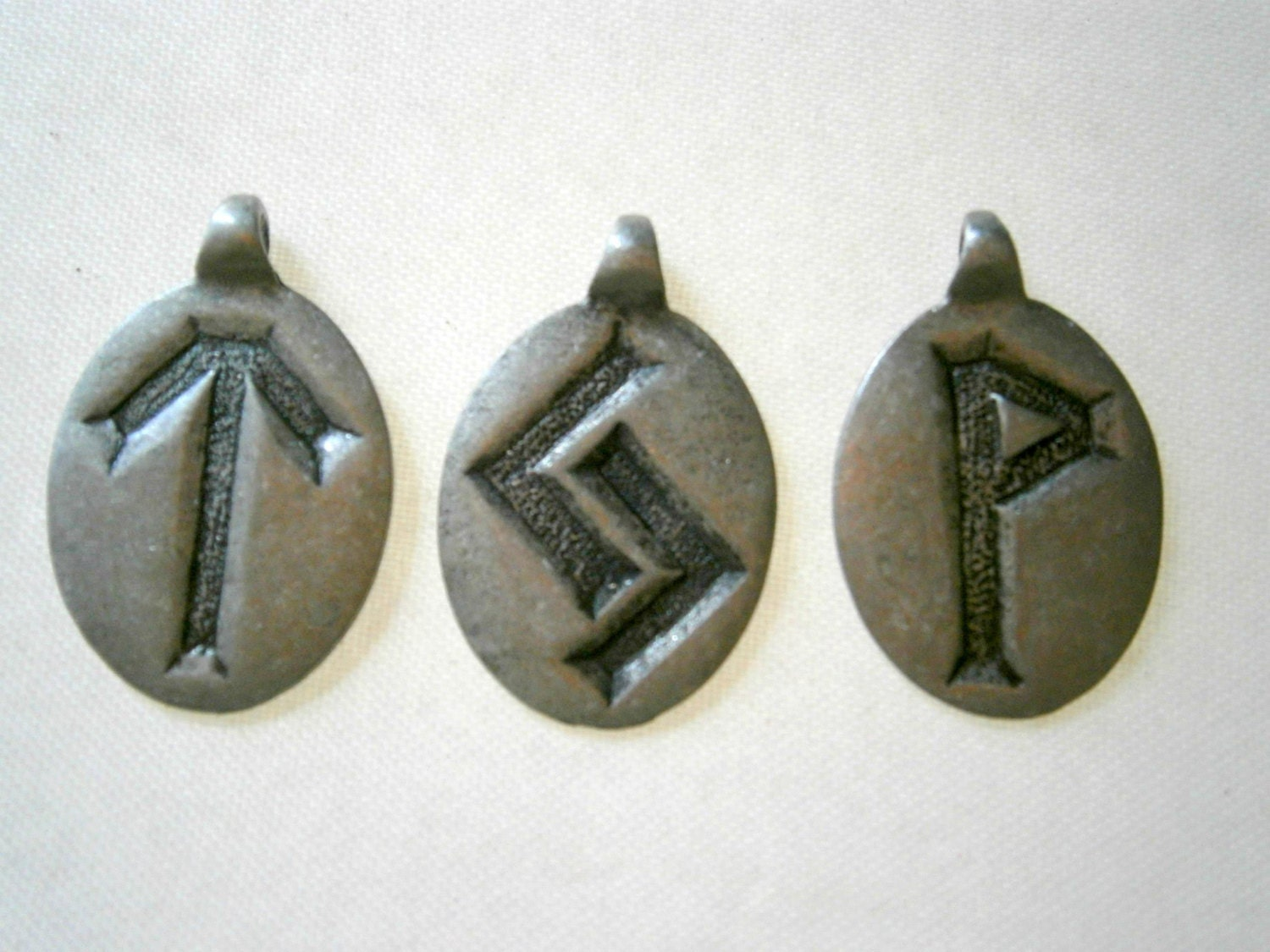 rune charms silvertone ger tyr runes diy by willowglass