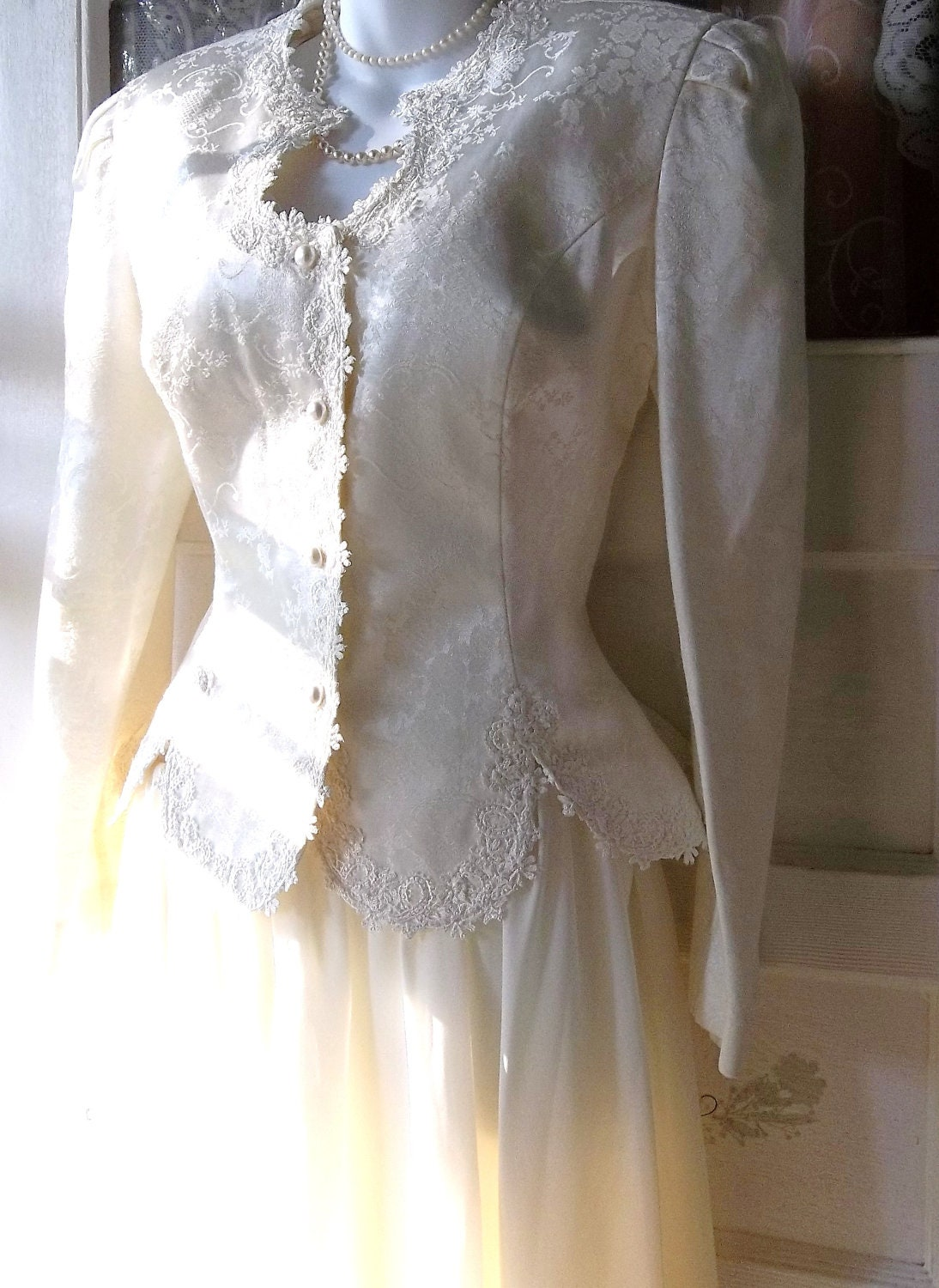 Vintage victorian western style wedding dress by shabbypeonie for Wedding dress western style