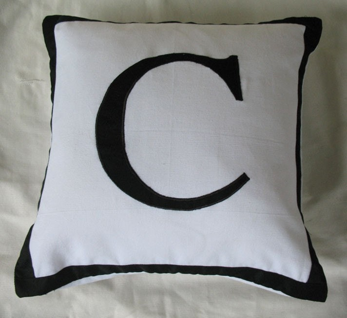 Custom Made letter C alphabet pillows by Comfyheavenpillows