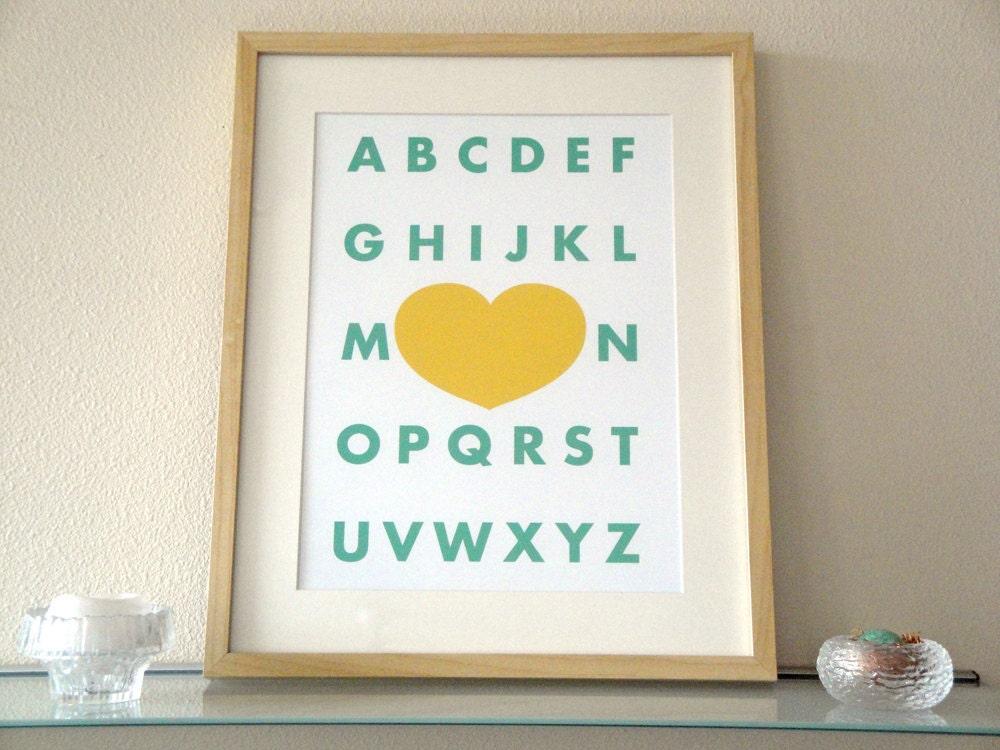 Modern Alphabet - a modern design print 13x19