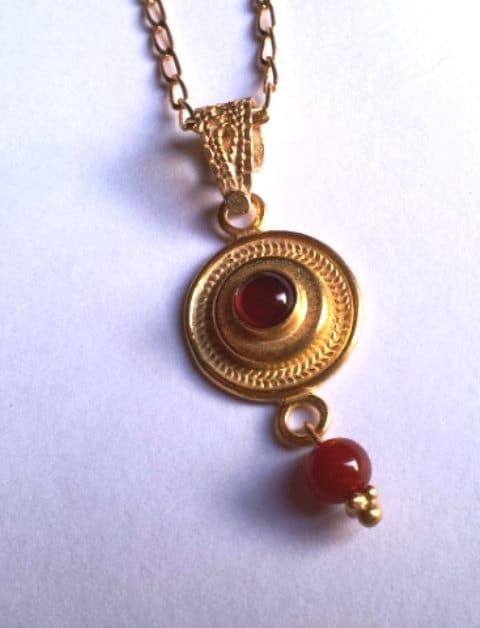 Sterling silver earrings Delicate Filigree cornelian stones israeli earrings. Sterling silver jewelry with gemstones.