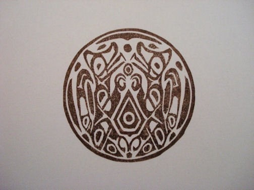 Quileute Wolf Pack tattoo rubber stamp. From dragonflycurls