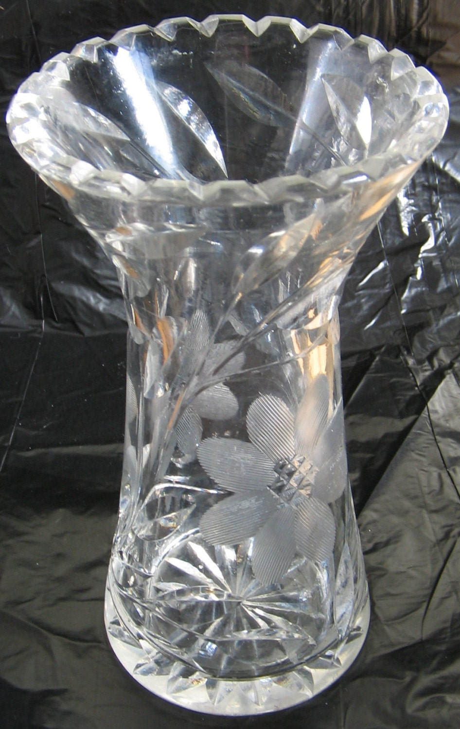 Items similar to american brilliant period cut glass small for Glass cut work designs