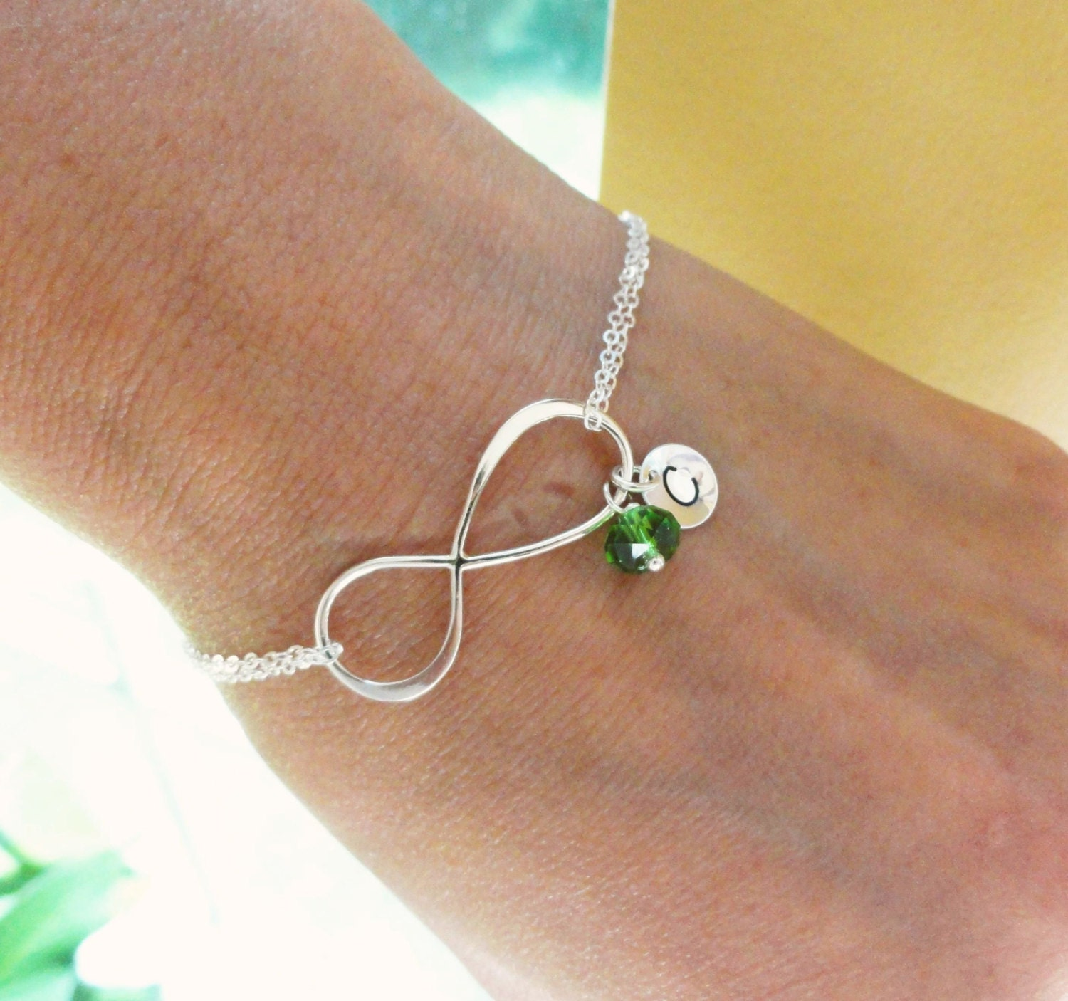 personalized infinity bracelet with initial by briguysgirls