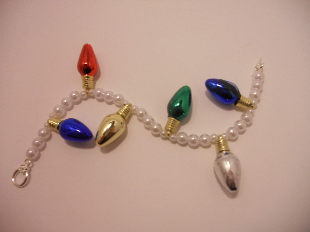 Light Bulb and Pearl Bracelet