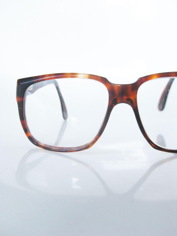 Mens Hipster Eyeglass Frames : Vintage OVERSIZED Tortoiseshell Mens Glasses by OliverandAlexa