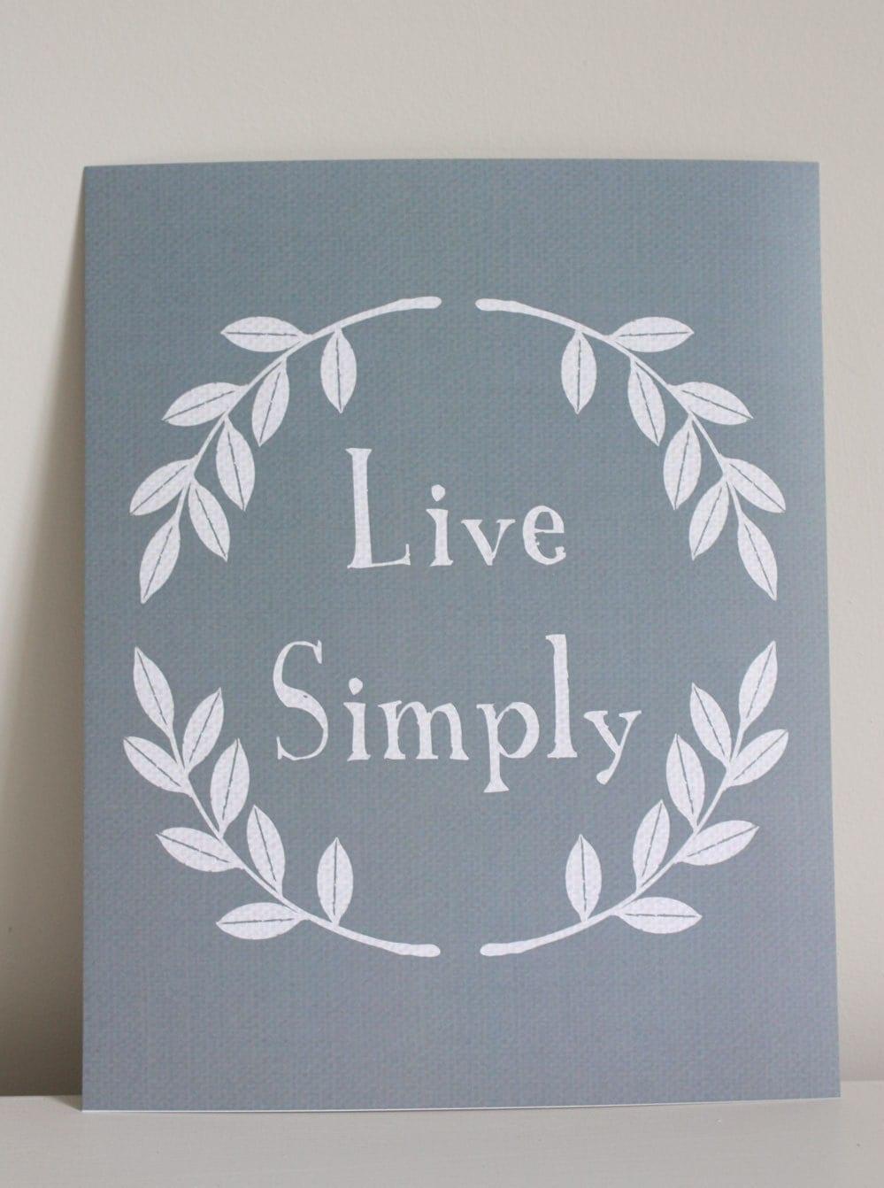 8x10 Live Simply print