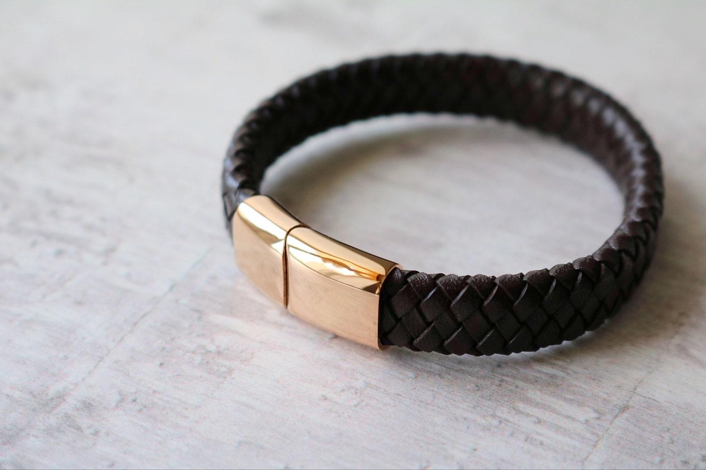 Leather Personalised Bracelet  Mens Bracelet  Leather Bracelet  Engraved Leather Bracelet  Mens Jewelry
