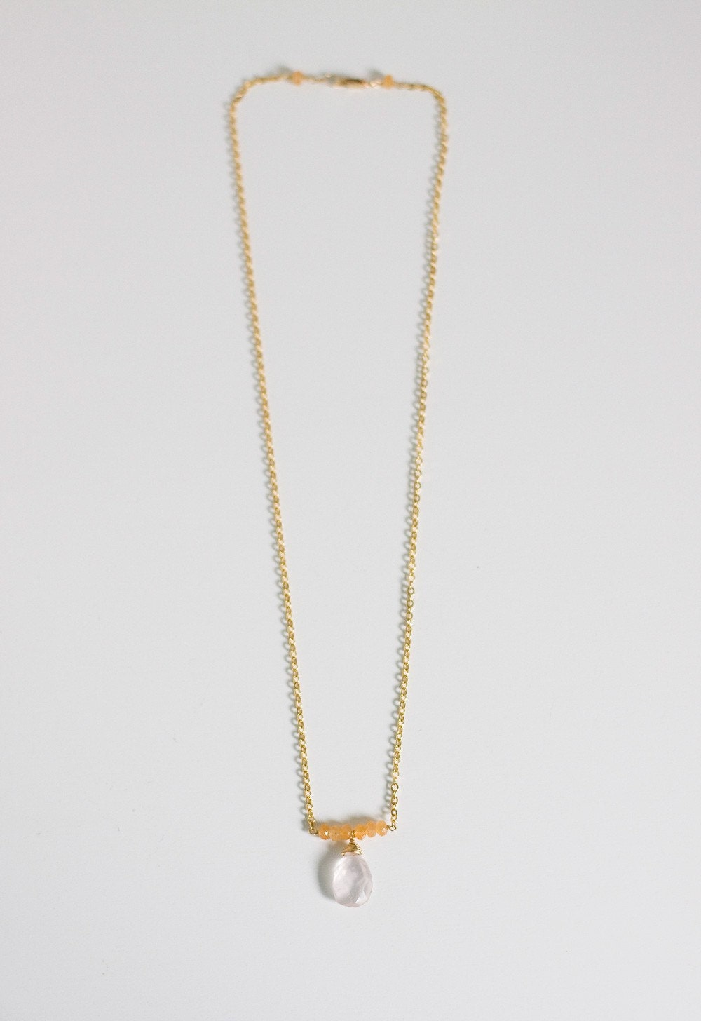 elisa necklace         .        14kt gold filled chain       .