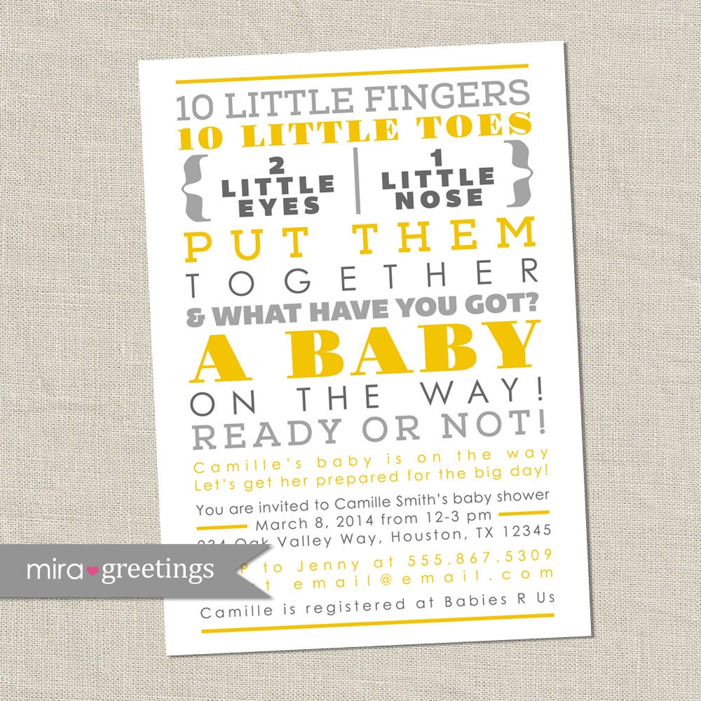 Neutral Baby Shower Invitation Wording is nice invitation template