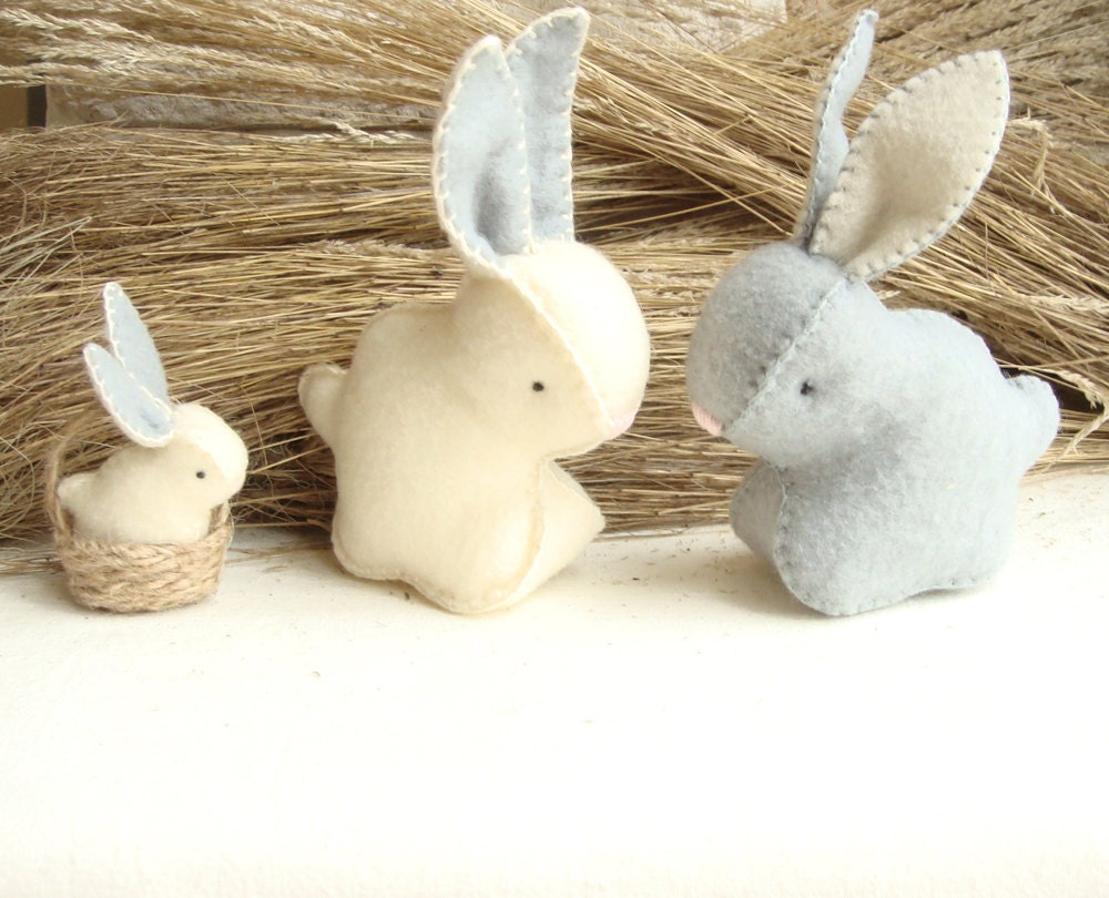 Rabbit Soft Bunny Stuffed Toy Hand Made