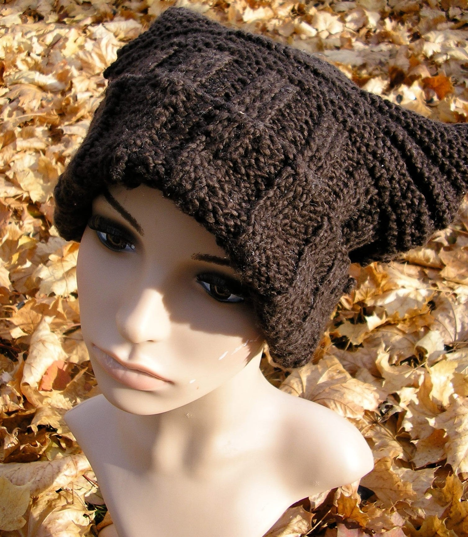 Organic Cotton Knit Hat Chocolate HolisticallyHeather
