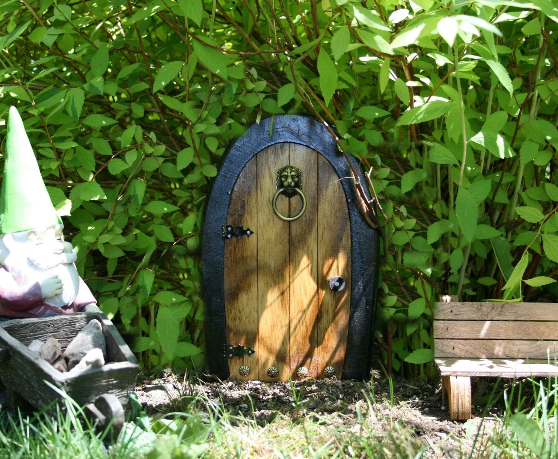 A fairy door gnome door that opens 12 inch by nothinbutwood for Wooden fairy doors that open
